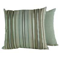Clark Stripe Blue Stream Throw Pillows (Set of 2)