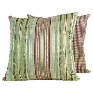 Clark Stripe Spring Throw Pillows (Set of 2)