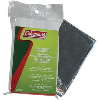 Coleman 53 x 82-inch Green/ Grey Emergency Blanket