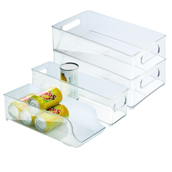Interdesign 4 piece Fridge And Freezer Storage Bins Free