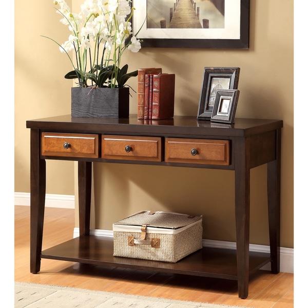 Shop Furniture Of America Dark Oak Amp Cherry Sente