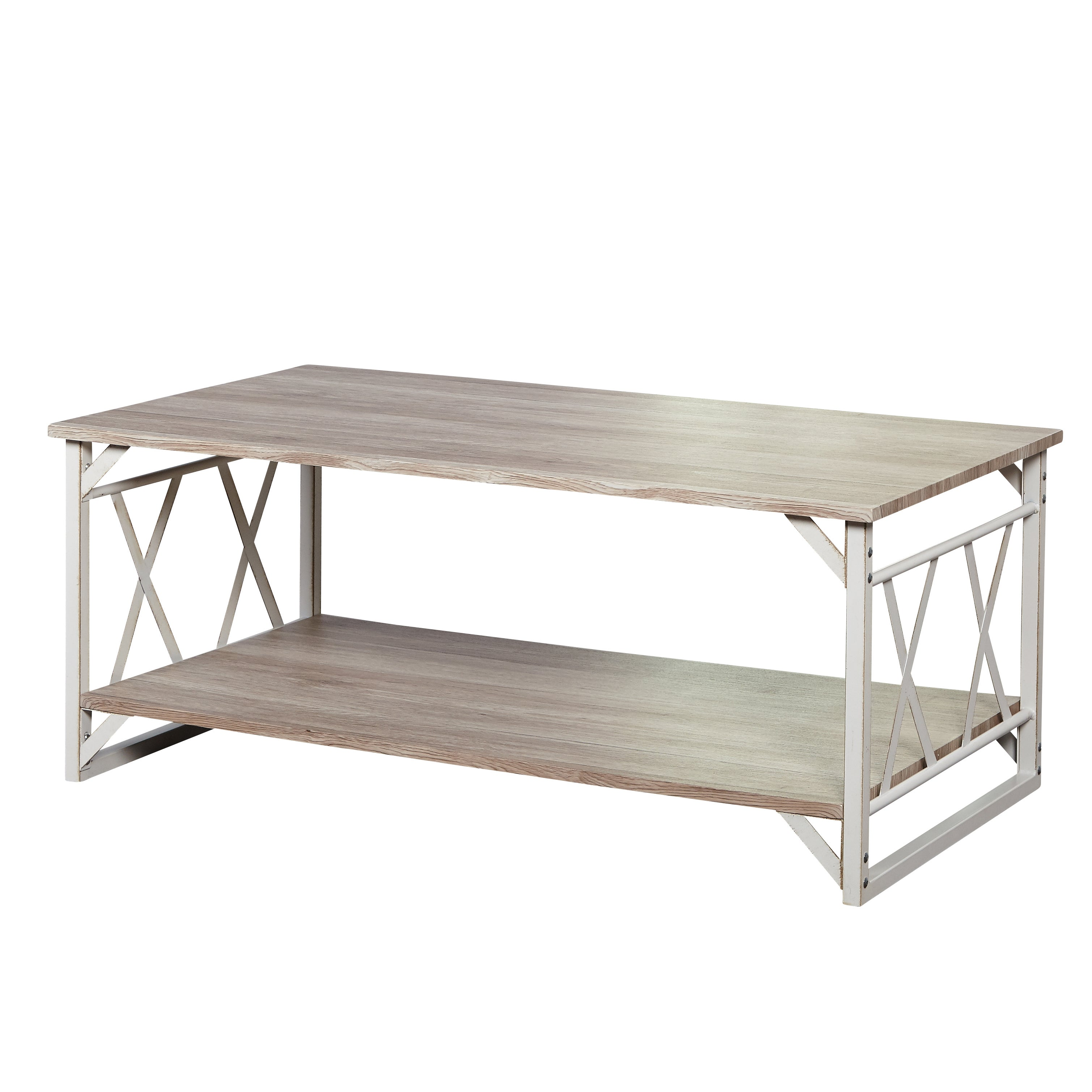 Simple Living Reclaimed Style Coffee Table With Double X Frame