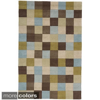 Handmade Color Blocks Area Rug (10' x 12'6)