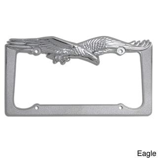 Oxgord Single-piece Designer Zinc Auto License Plate Frames