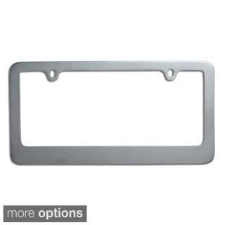 Oxgord Single-piece Designer Zinc Auto License Plate Frames