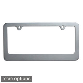 Oxgord Single-piece Designer Zinc Auto License Plate Frames (More options available)