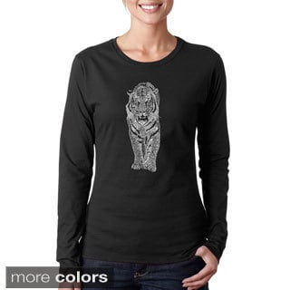 Los Angeles Pop Art Women's 'Tiger' Long Sleeve T-shirt