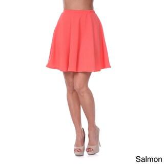 White Mark Women's Flared Mini Skirt (4 options available)