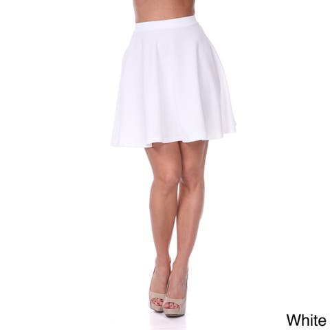 White Mark Women's Flared Mini Skirt