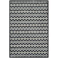 Isaac Mizrahi by Safavieh Handmade Black Cravat Grey/ Black Wool Rug - 4' x 6'