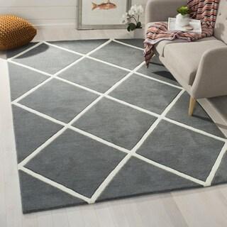 Safavieh Handmade Moroccan Chatham Dark Grey/ Ivory Wool Rug (8'9 x 12')