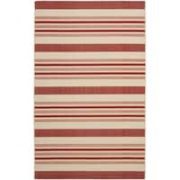 Safavieh Indoor/ Outdoor Courtyard Beige/ Red Rug - 9' x 12'