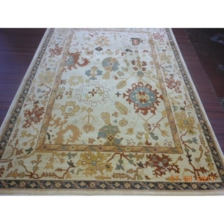 Safavieh Heirloom Creme/ Creme Rug (6'7 x 9'1)