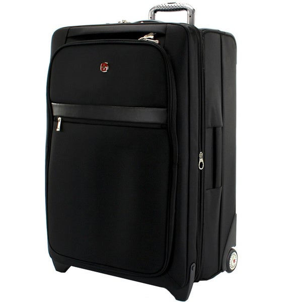 Swiss gear geneva collection 28 inch large expandable rolling upright suitcase free shipping for Swissgear geneva 19