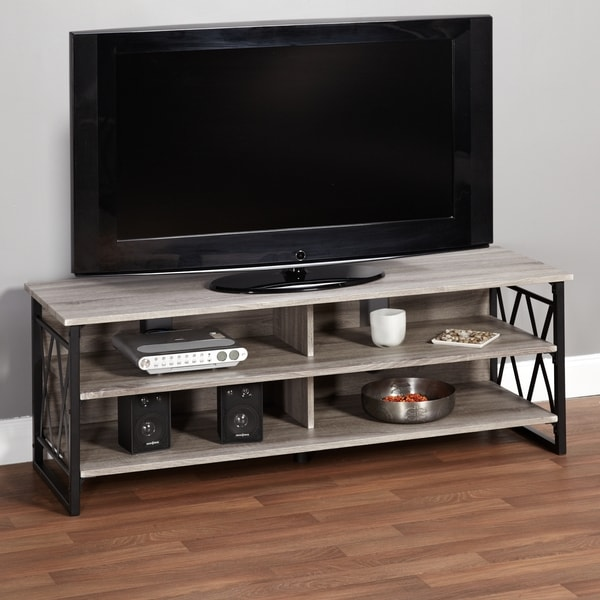 Shop Simple Living Seneca XX 60-inch Black/ Grey Rustic TV