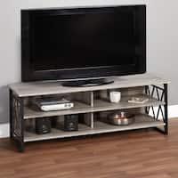 Simple Living Seneca XX 60-inch Black/ Grey Rustic TV Stand