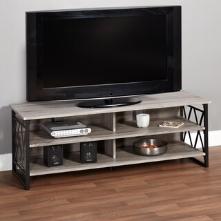 Simple Living Seneca XX 60-inch Black/ Grey Rustic TV Stand