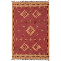 Hand Woven Antiquity Jute and Wool Flat Weave Rug (8'x10') - 8' x 10'