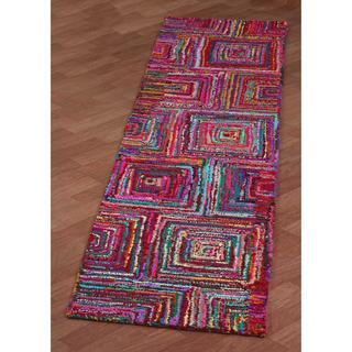 "Brilliant Ribbon Blocks Runner (2'6 x 12') - 2'6"" x 12'"
