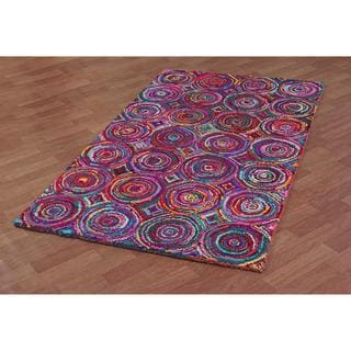 Brilliant Ribbon Circles Rug (4' x 6') - 4' x 6'