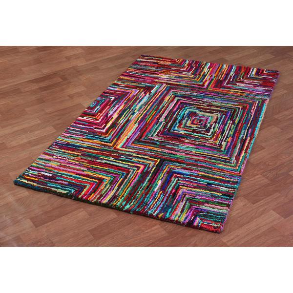 Brilliant Ribbon Blocks Rug (5' x 8') - 5' x 8'