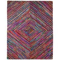 Brilliant Ribbon Vortex Rug (8' x 10') - 8' x 10'
