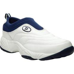 Men's Propet Wash & Wear Slip-On White/Navy