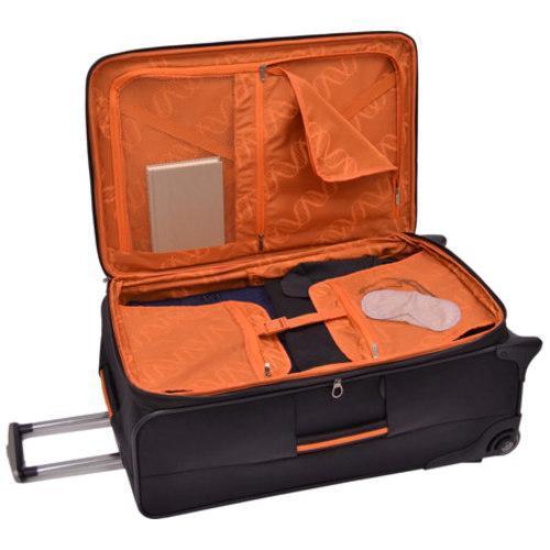Traveler's Choice Birmingham Black 29-inch Expandable Rolling Suitcase - Thumbnail 1