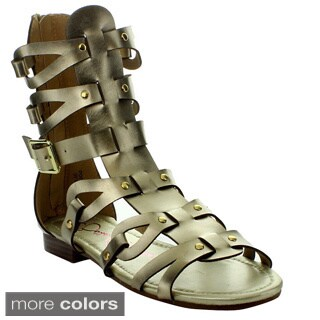 Anna Women's 'Glad-2' Gladiator Style Mid-calf Sandals