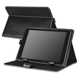 Insten Black Standable Folio Flip Leather 10-inch Tablet Case for Apple iPad Air 1/ 2/ Samsung Galaxy Note 10.1
