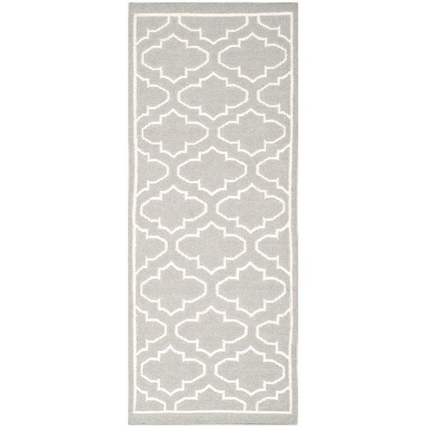 Shop Safavieh Hand-woven Moroccan Reversible Dhurries Grey