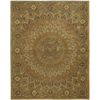 Safavieh Handmade Heritage Timeless Traditional Light Brown/ Grey Wool Rug (9'6 x 13'6)