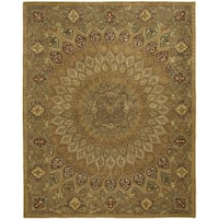 Safavieh Handmade Heritage Timeless Traditional Light Brown/ Grey Wool Rug - 9'6 x 13'6