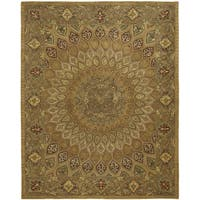 "Safavieh Handmade Heritage Timeless Traditional Light Brown/ Grey Wool Rug - 9'6"" x 13'6"""