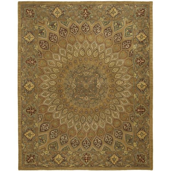 Safavieh Handmade Heritage Timeless Traditional Light Brown/ Grey Wool Rug - 9'6 x 13'6