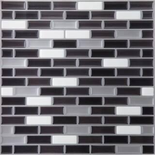 Magic Gel Silver Black 9 125x9 125 Self Adhesive Vinyl Wall Tile 1
