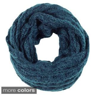 Women's Sparkle Knit Infinity Scarf
