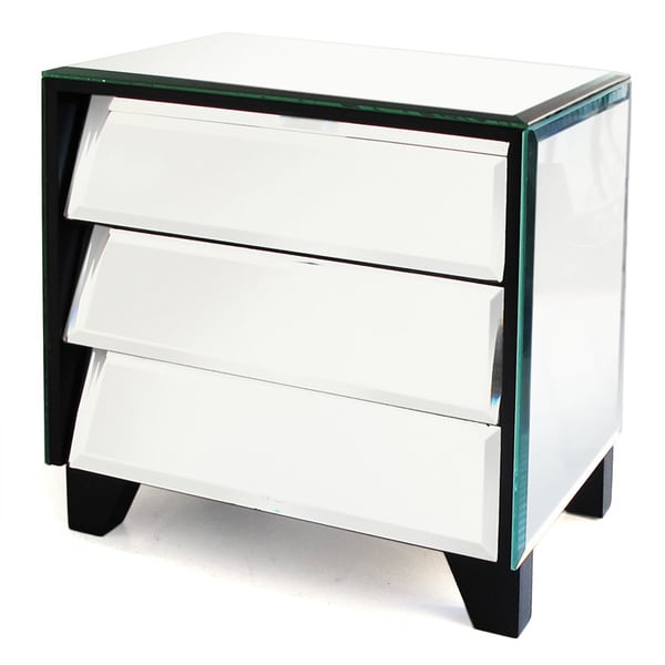 American Atelier Mirror Titled Drawers Jewelry Box