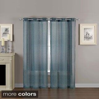 Vcny Calverton 84 Inch Sheer Grommet Curtain Panel Pair Free