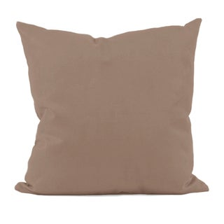 Solid Ginger Snap Brown Hypoallergenic Faux Down Decorative Pillow