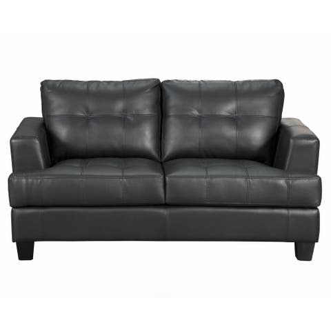 Coaster Company Samuel Contemporary Bonded Leather Loveseat