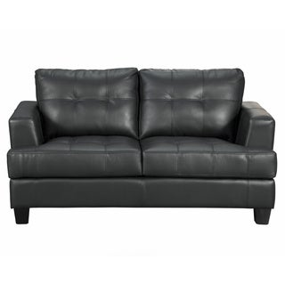 Samuel Contemporary Bonded Leather Loveseat