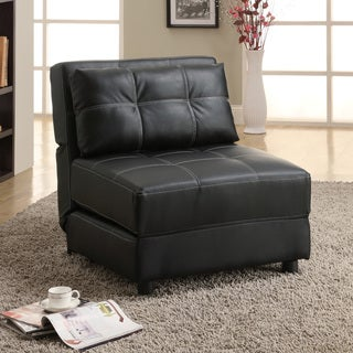 Black Accent Lounge Chair Futon Sofa Bed