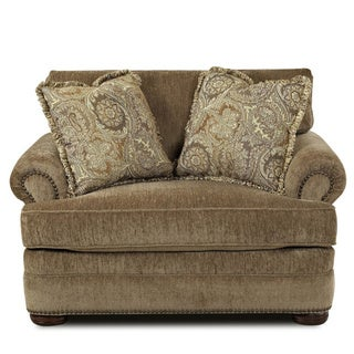 Made to Order Tally Portabella Brown Welted-cushion Armchair