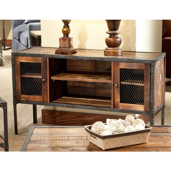 Laramie Reclaimed Look Wood Sofa Table   Brown