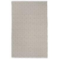 Indo Hand-woven Veria White/ Khaki Contemporary Geometric Area Rug (4' x 6')