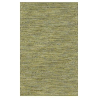 Handmade Indo Cancun Yellow and Green Contemporary Rug (India) - 5' x 8'