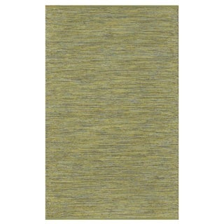 Indo Hand-woven Cancun Green/ Yellow Contemporary Area Rug (6' x 9')