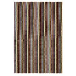 Handmade Indo Montego Multicolor Casual Stripe Rug (India) - 3' x 5'