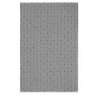 Indo Hand-woven Veria Black/ White Geometric Flat-weave Area Rug - 8' x 10'